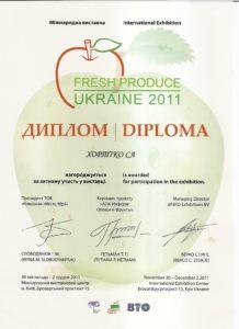 Targi Fresh Produce HORTICO dyplom