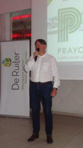 Prezes HORTICO - Paweł Kolasa podczas spotkania Biała Panienska